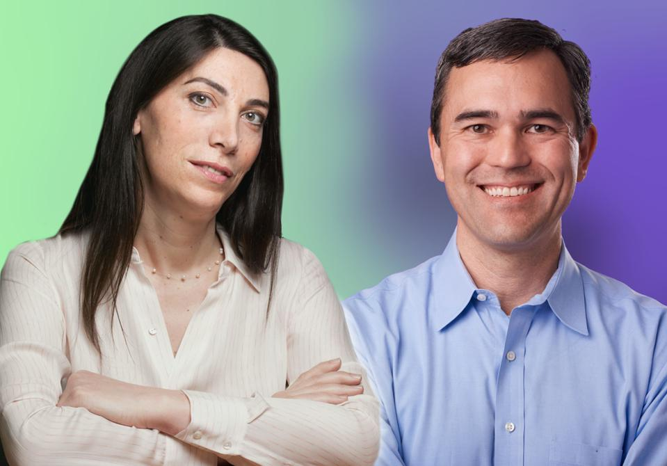 Emily Leproust, CEO, and Aaron Sato, CSO of Twist Bioscience.