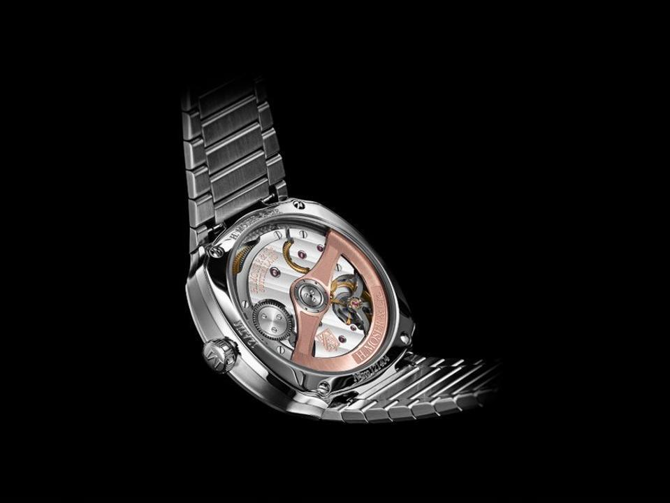 H. Moser  & Cie. Streamliner Center Seconds watch, Geneva Watch Days, H. Moser Matrix Green dial.