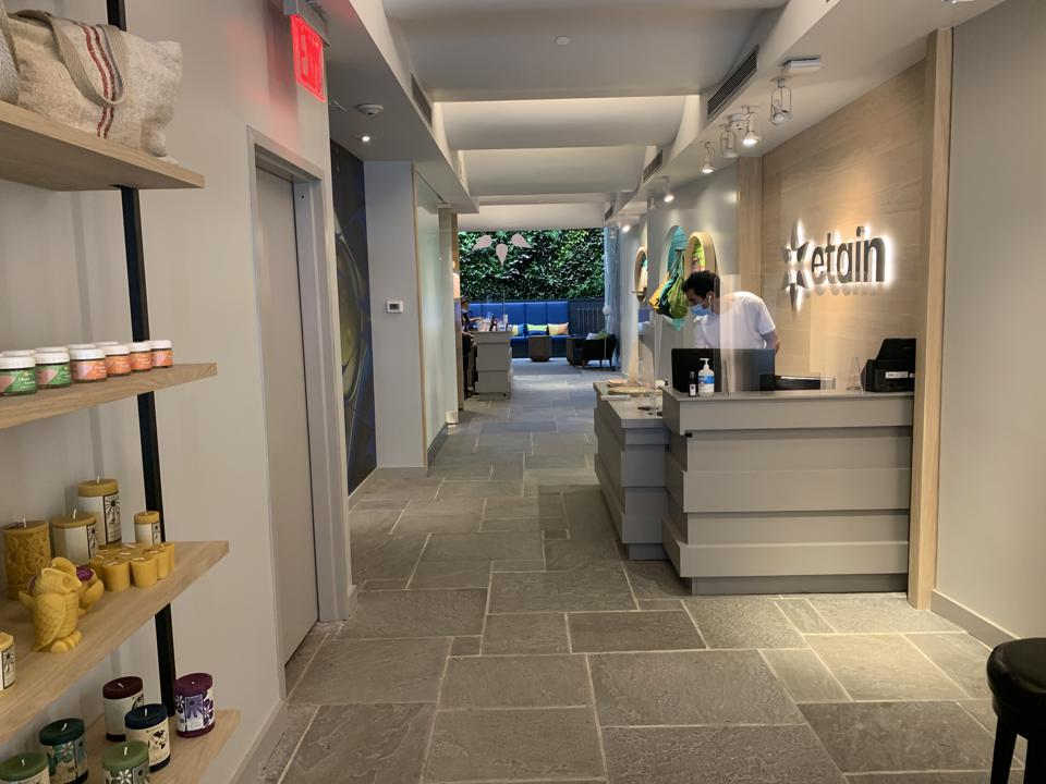 the length of the store from front to back Etain Health