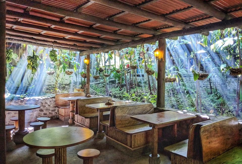 The open-air bar at Costa Rica's Rancho Margot