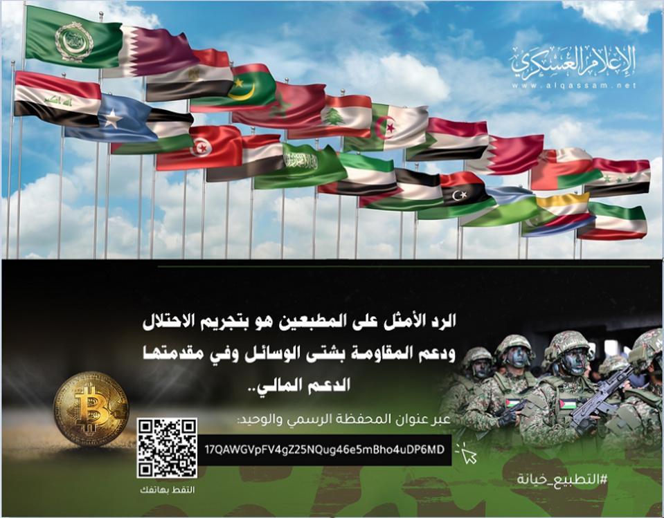 Brigade al-Qassam membual bahwa sumbangan bitcoin tidak dapat dilacak.