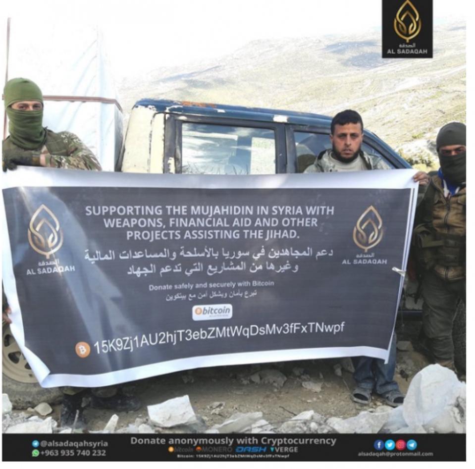 Organisasi teroris Al-Qaeda dari Suriah mengoperasikan jaringan pencucian uang bitcoin.