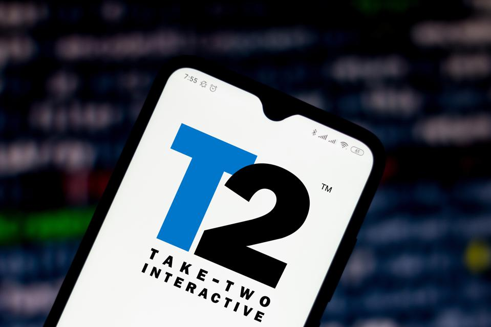In this photo illustration the Take-Two Interactive Software...