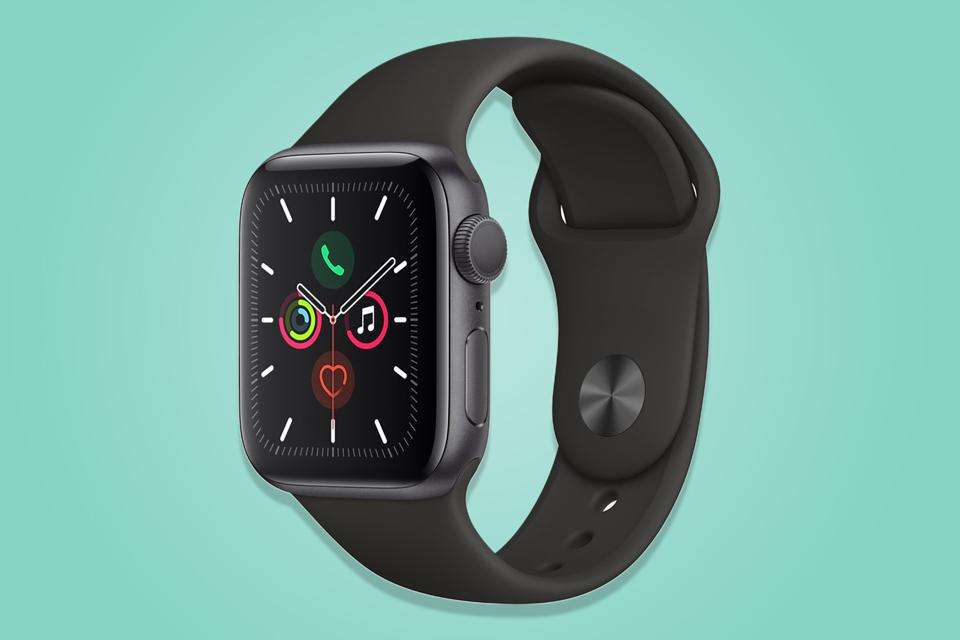 A promo image of the Apple Watch Series 5.