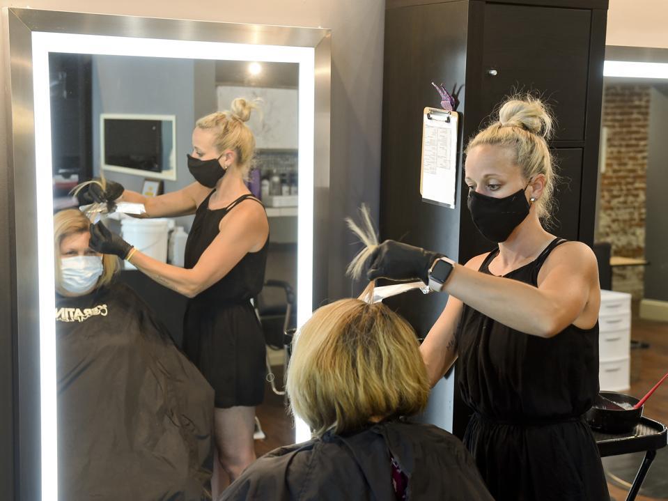 Hair Salon In Pennsylvania Reopening As Coronavirus Shutdown Orders Ease