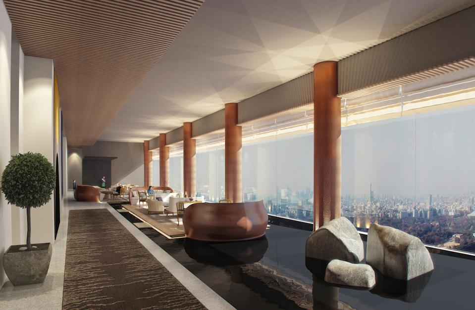 Inside the soon-to-open Four Seasons Hotel Tokyo at Otemachi.