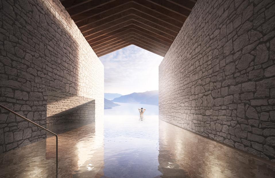 A part of Oppenheim Architecture's design for Lago Maggiore Retreat.