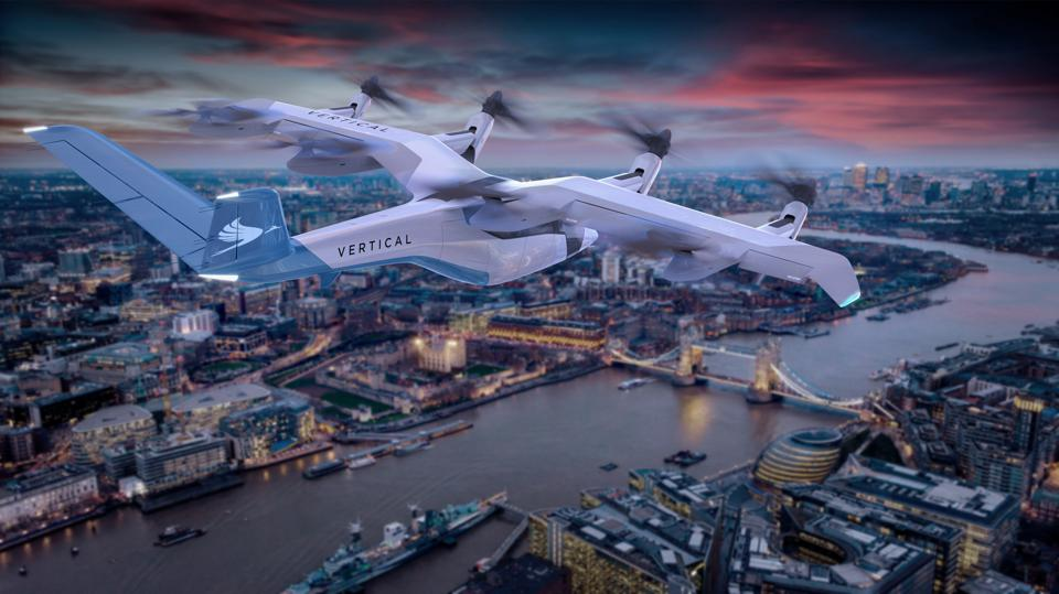 flying taxi over london