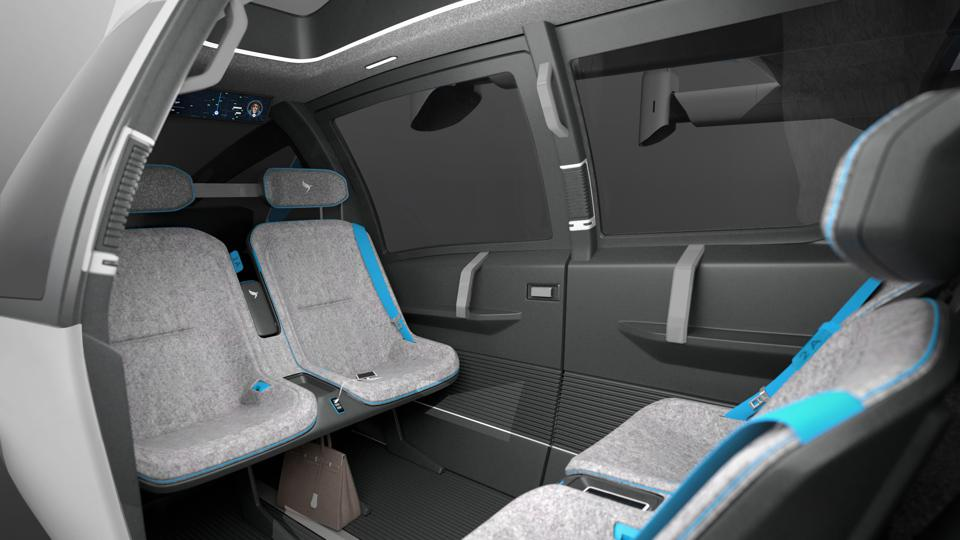 interior of flying taxi