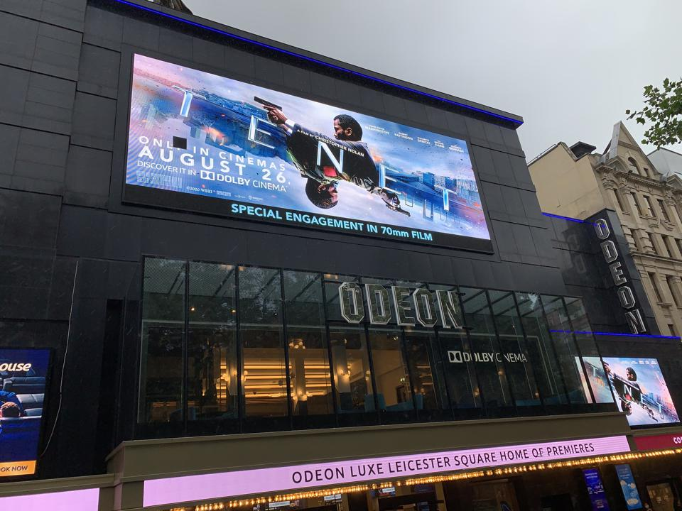 Tenet is showing in 70mm at the Odeon Leicester Square as a ″special engagement″