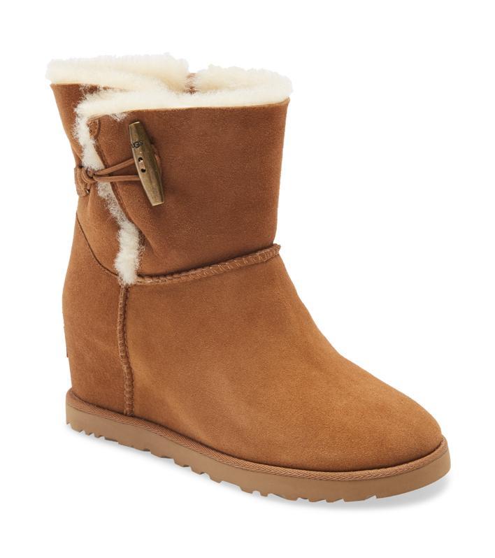 UGG® Classic Femme Toggle Wedge Boot