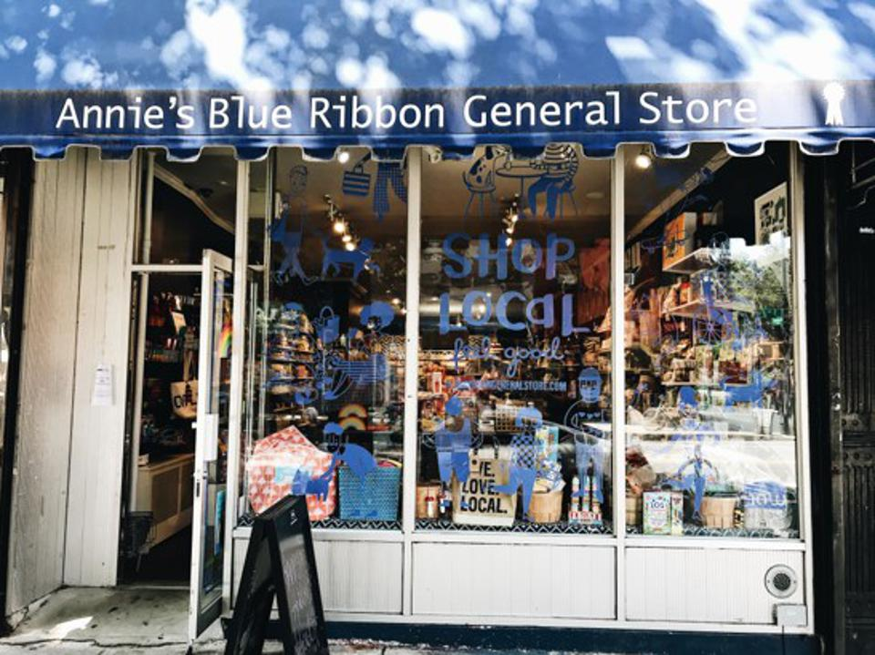 a picture of Annie's blue ribbon store in brooklyn