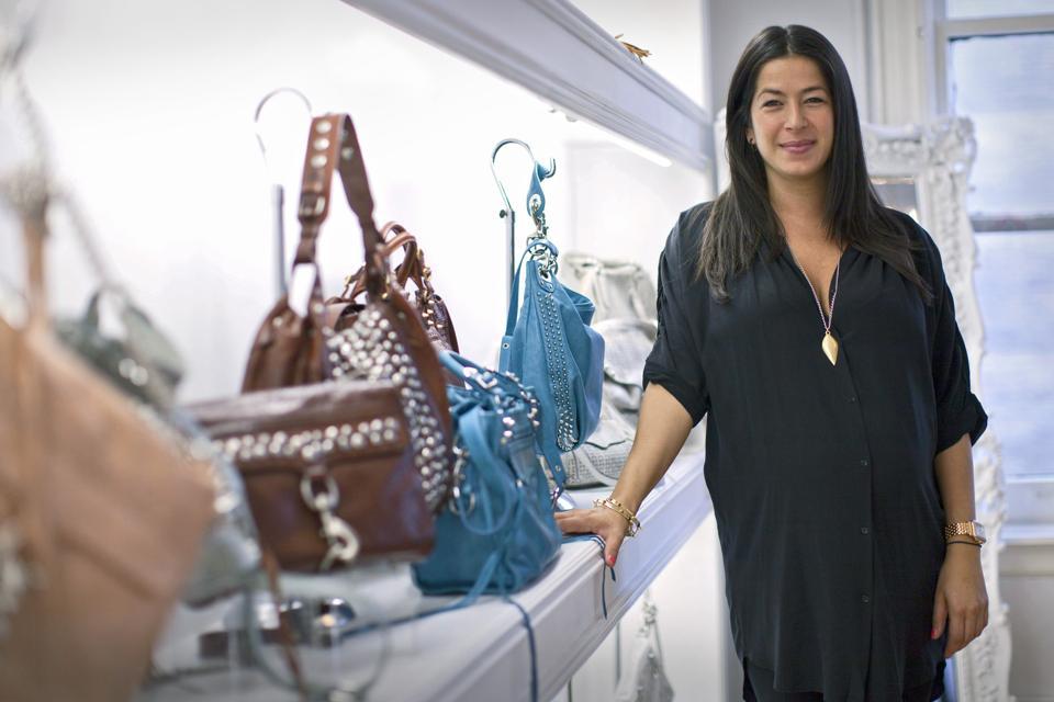 Rebecca Minkoff Interview at her showroom