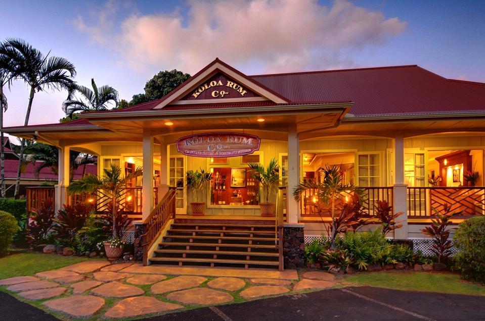 Koloa Rum Company tasting room on Kauai