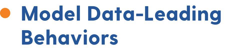 Model data-leading behaviors