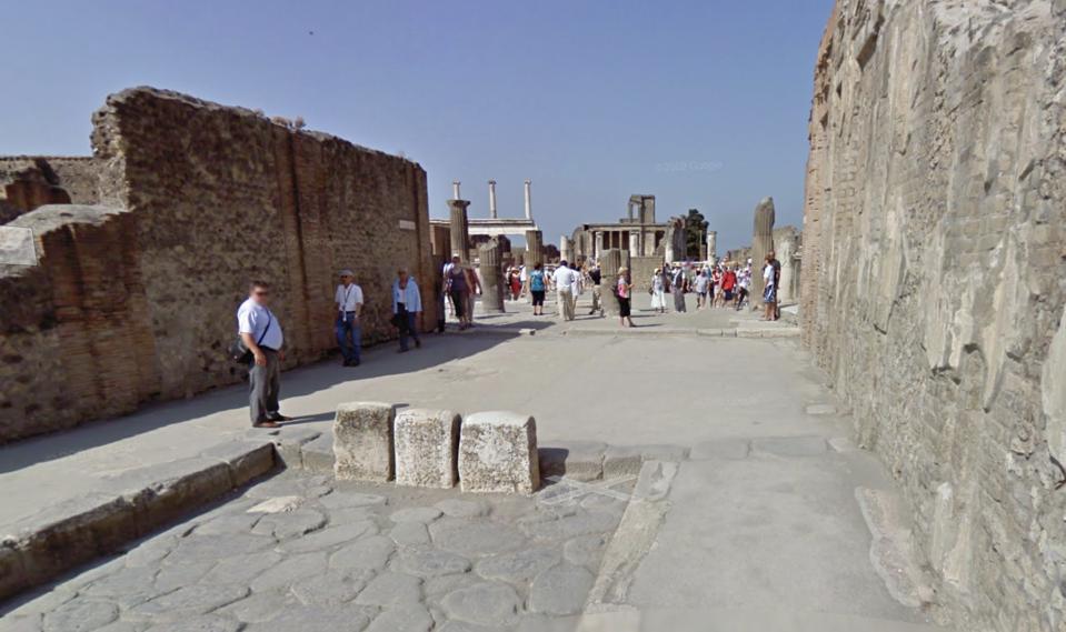 Roman street bollards.