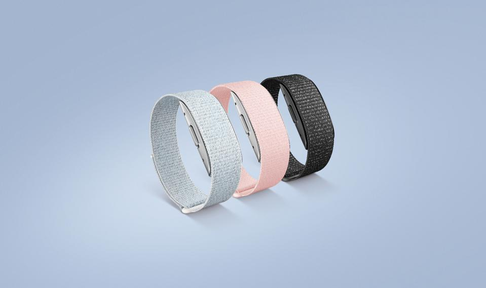 The Amazon Halo Band in three color options.