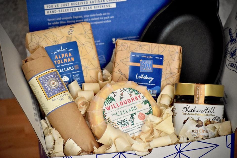 Inside Jasper Hill Farm's September Cheese Club box.