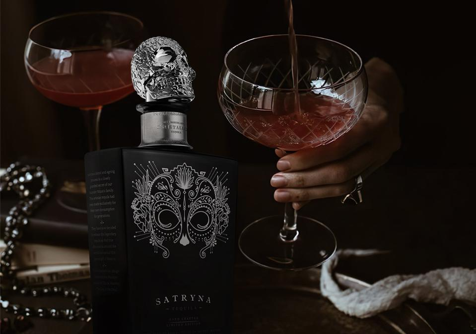 Satryna tequila cocktail made with cranberry