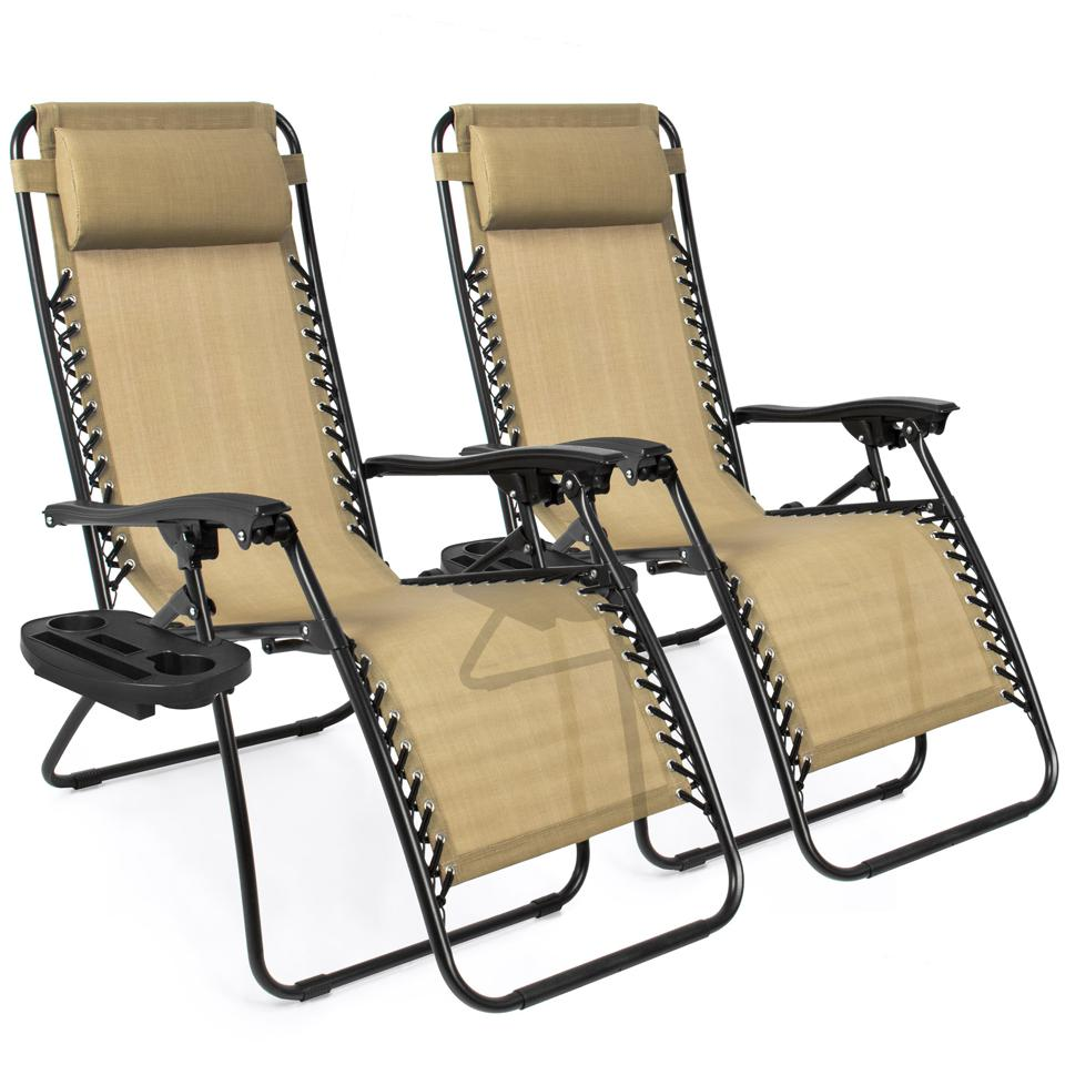 Best Choice Products Adjustable Zero Gravity Lounge Chair Recliners (Set of 2)