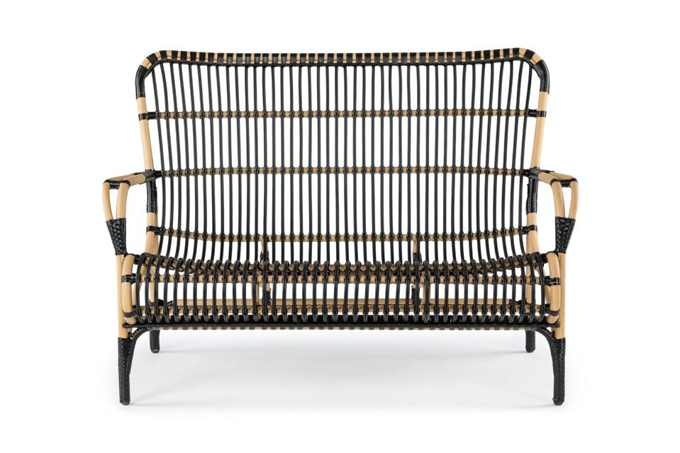 Article Natural and Black Trella Wicker Sofa