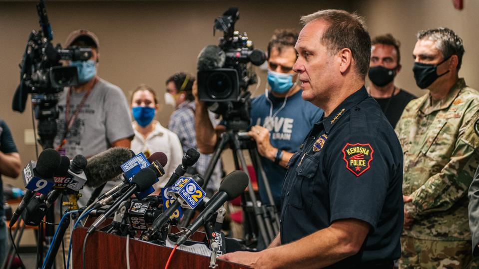 Kenosha Mayor, Police Chief, And National Guard Sargent Hold News Conference