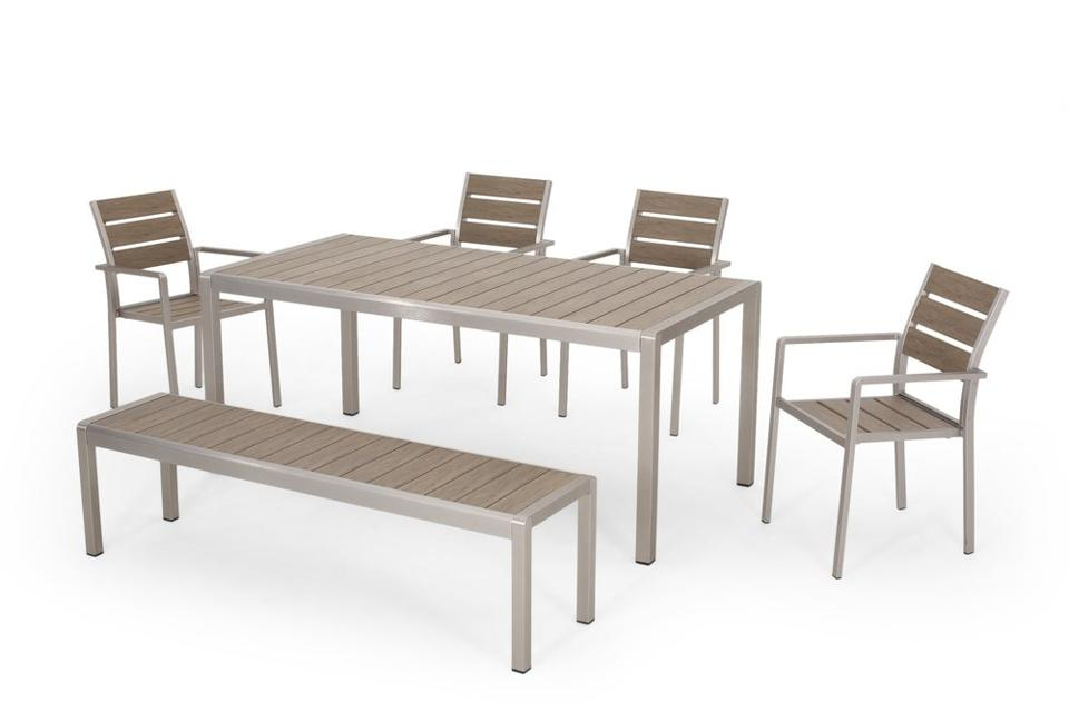 Christopher Knight Home Cape Coral Outdoor Aluminum Dining Set