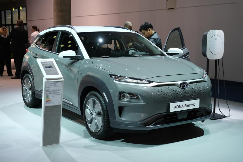The second most popular EV in Europe in July was Hyundai's Kona.