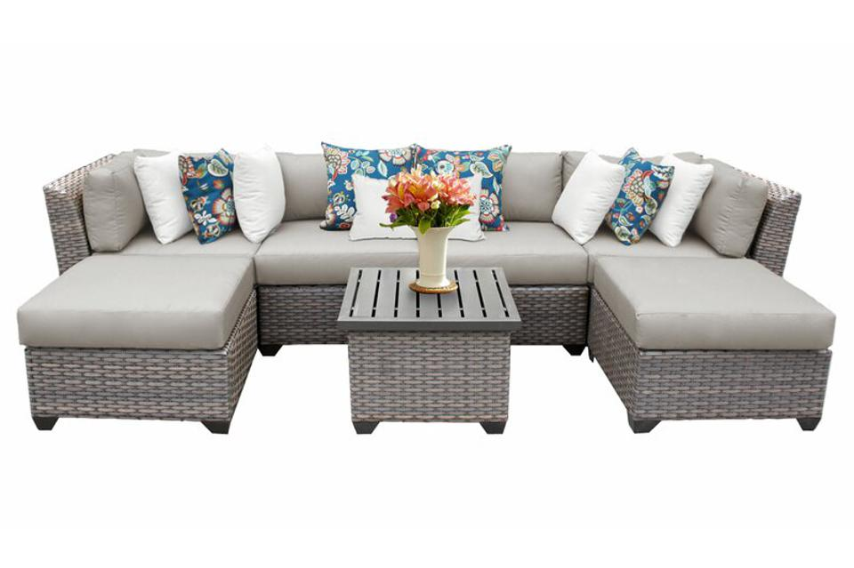 Joss & Main Caden Sectional Seating Group with Cushions