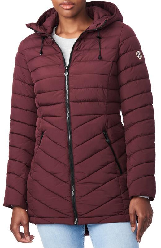 Bernado Packable EcoPlume™ Hooded Walker Coat