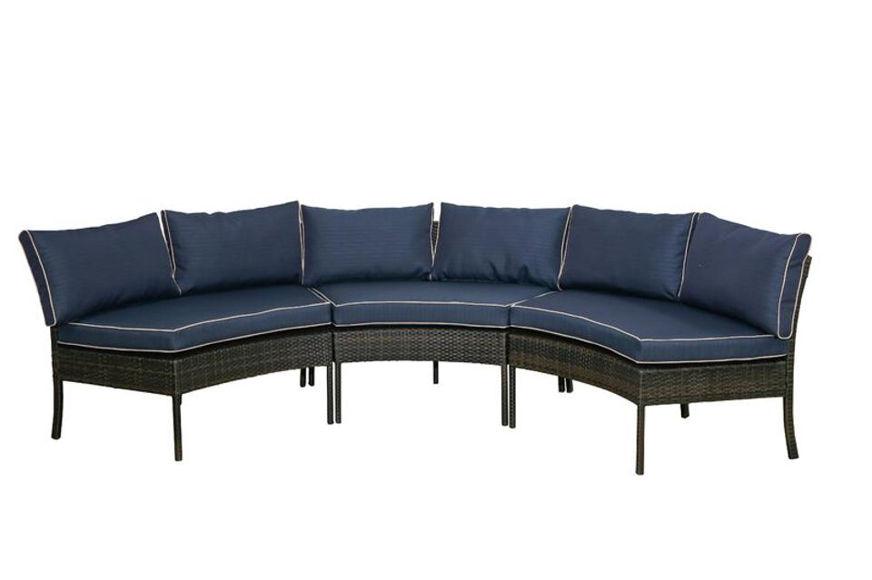Breakwater Bay Purington Circular Patio Sectional with Cushions