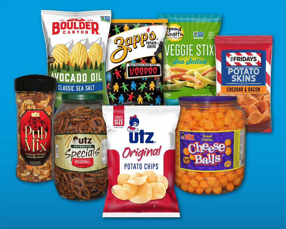 Utz manufactures about 300 million pounds of salty snacks annually, from cheese balls and pretzels to its classic potato chips, enough to make it the fourth largest salty snack company in the U.S.