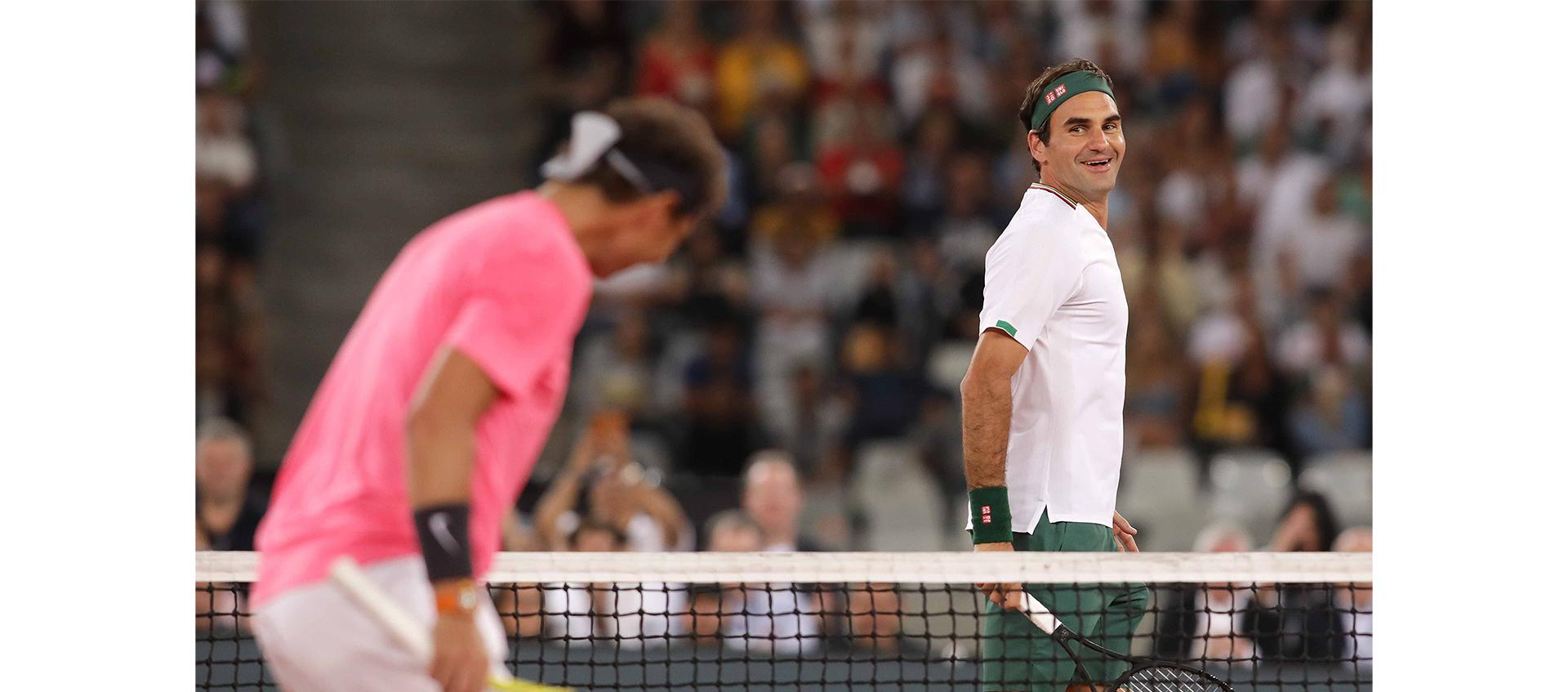 Roger Federer and Rafael Nadal in charity exhibition in Cape Town
