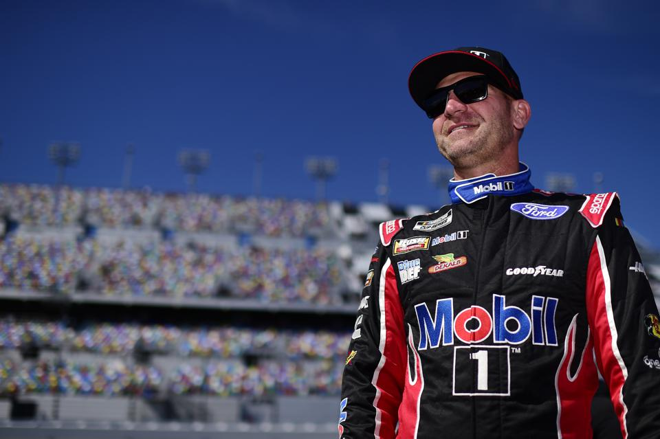 Clint Bowyer prepares for qualifying at Daytona.