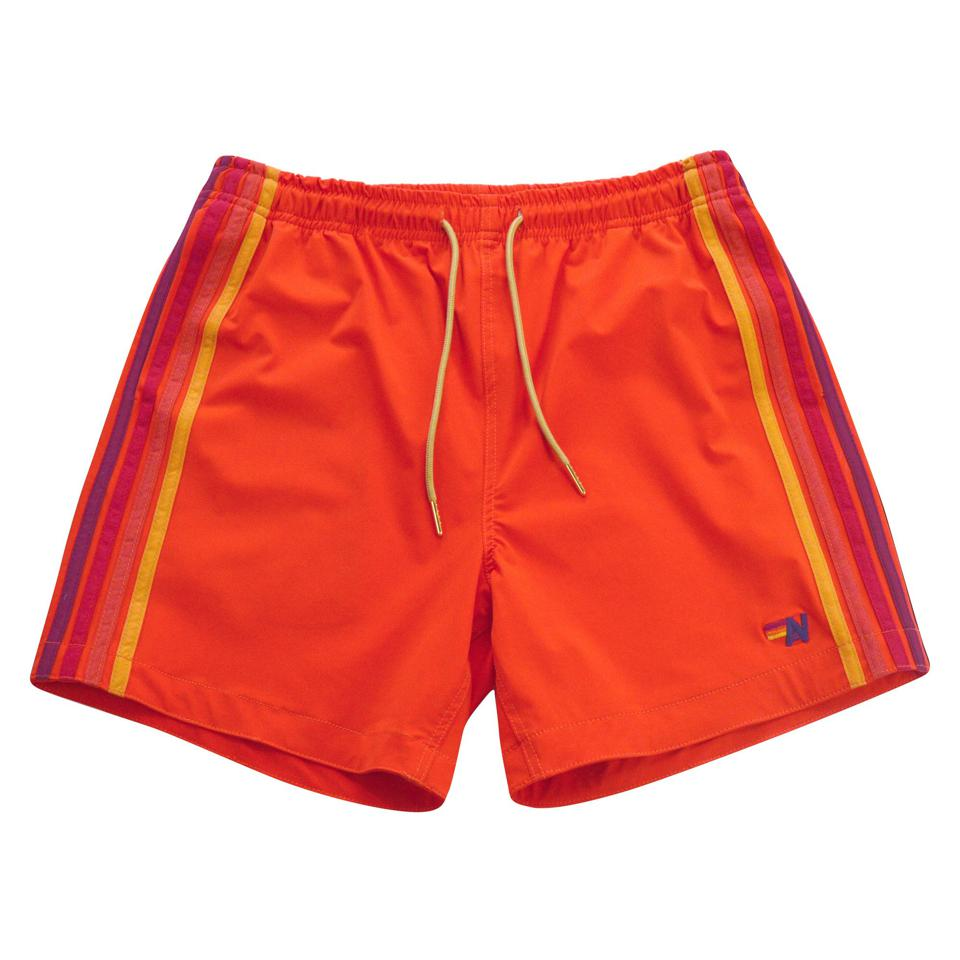 Rock the classic Aviator Nation look with our stripe stitch down the leg of these shorts! These super breathable board shorts are great for all water activities as well as lounge wear with deep twin hip pockets and the perfect amount of stretch.