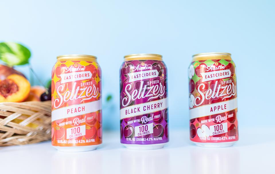 Austin Eastciders seltzer cans.