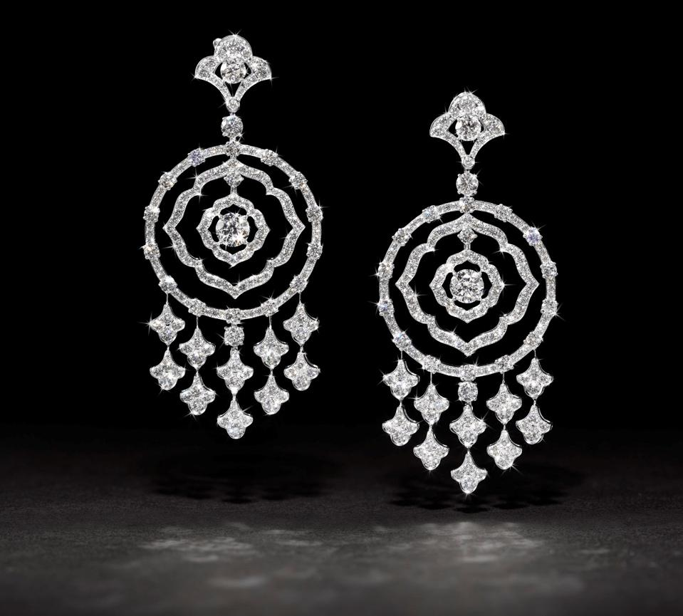 """Graff """"Bohemia"""" earrings that sold for $43,750"""