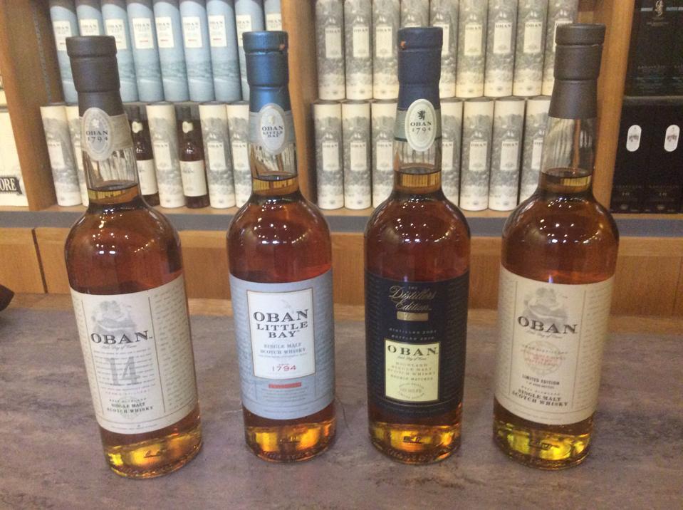 The Oban Core Range at the Oban Distillery
