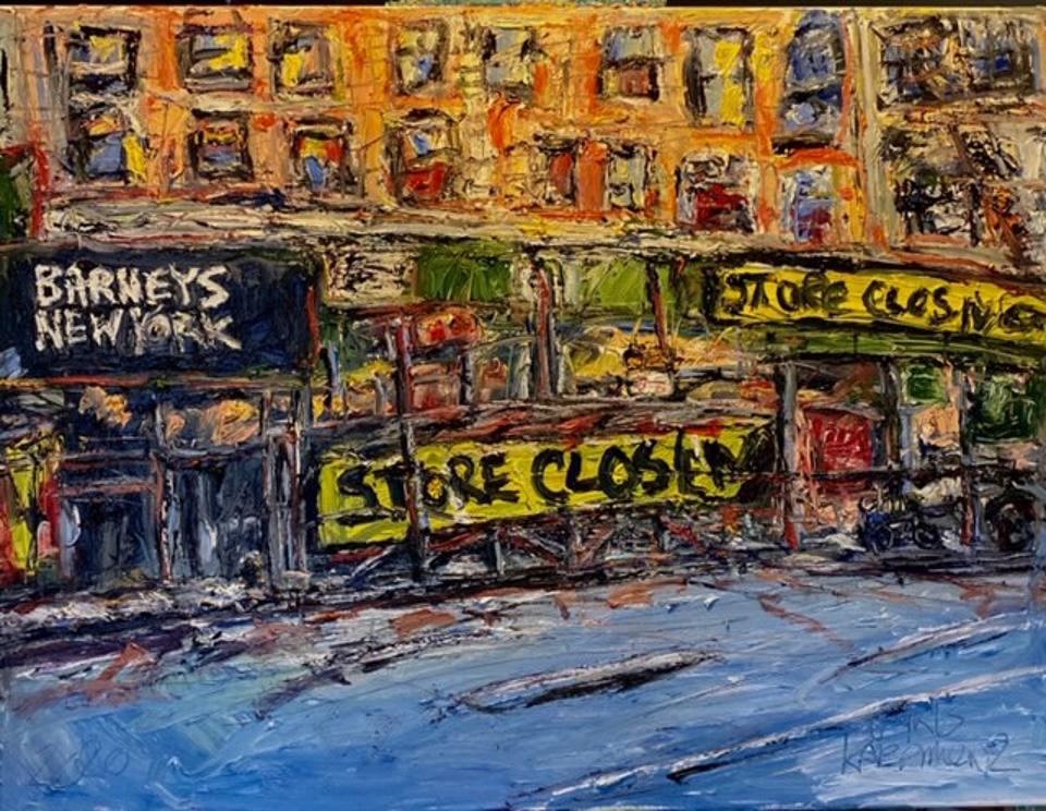 Chris Kappmeier Studio, painting, architecture, art, Barneys New York, store closing, COVID