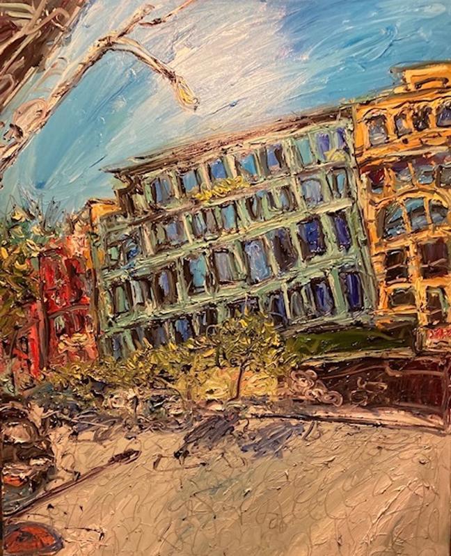 Chris Kappmeier Studio, New York, architecture, art, Manhattan, 40 Bond Street, Ian Schrager, Vincent van Gogh