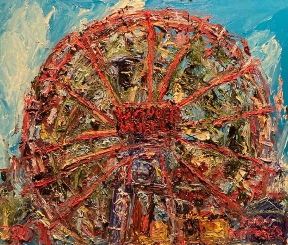 Chris Kappmeier Studio, Coney Island, Brooklyn, Wonder Wheel, New York, beach, summer, art, beach
