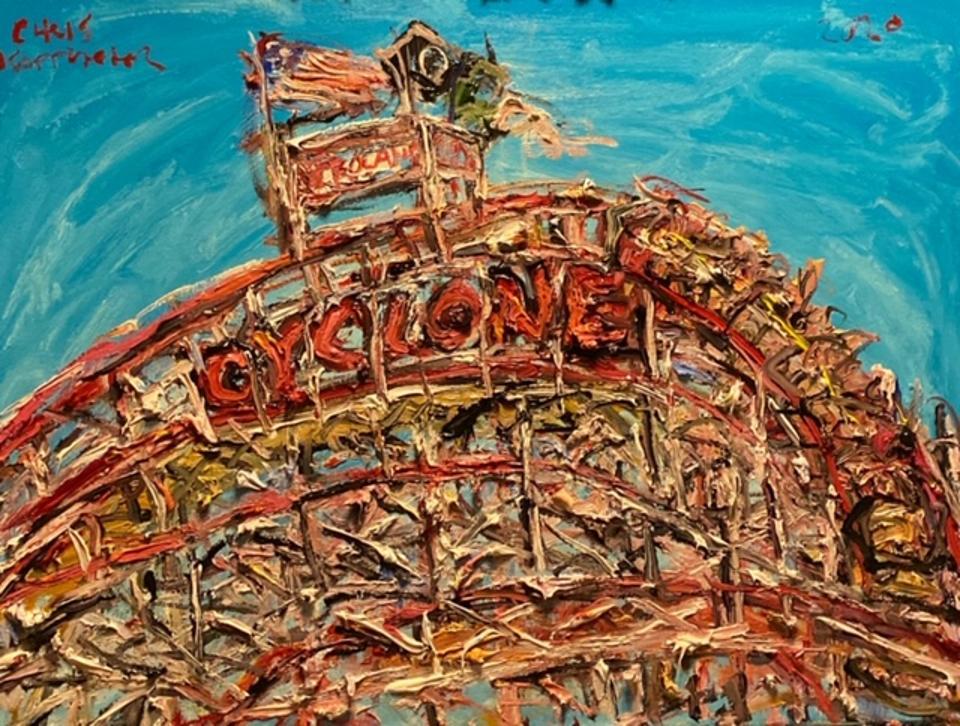 Chris Kappmeier Studio, Coney Island, Cyclone, Brooklyn, New York, rollercoaster, amusement park, art