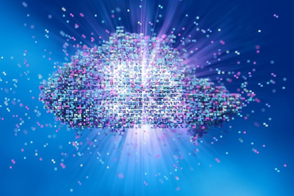 Data cloud concept