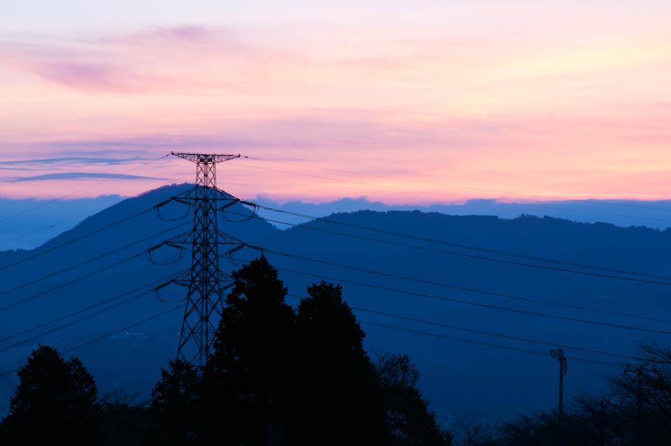 Sunrise and transmission line