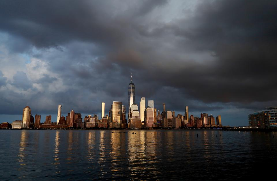 Storm Clouds Over Lower Manhattan in New York City