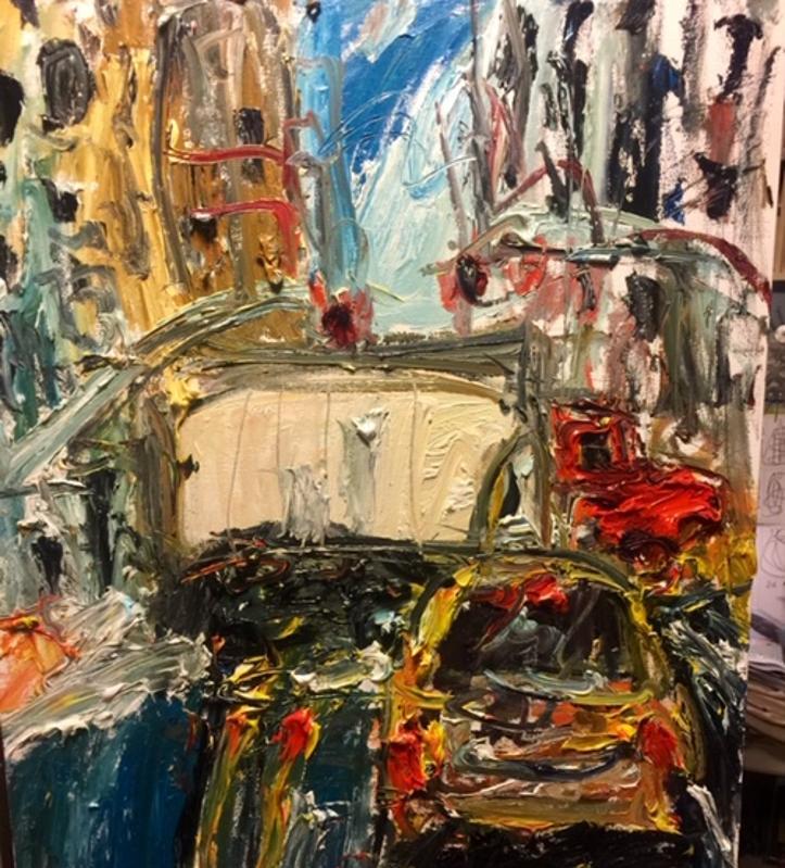 Chris Kappmeier Studio, New York City, Manhattan, streets, truck, art, architecture, COVID-19