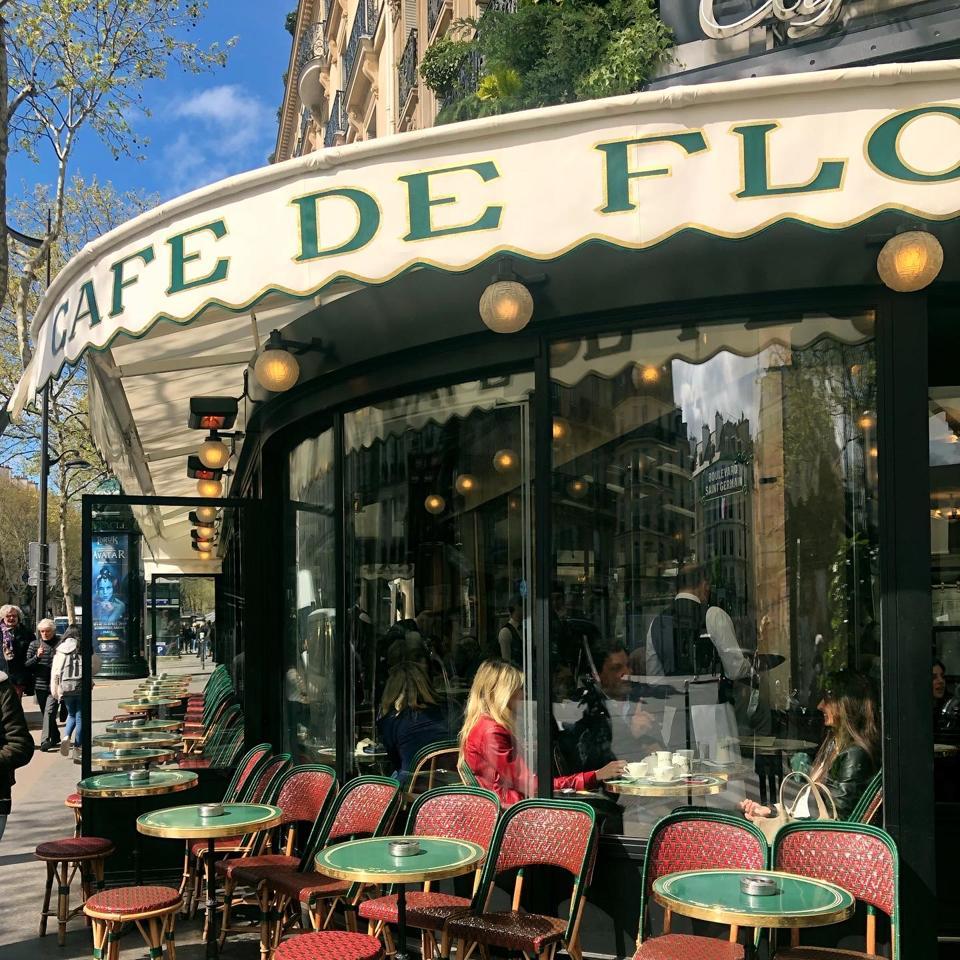 Café de Flore on Boulevard Saint-Germain in Paris