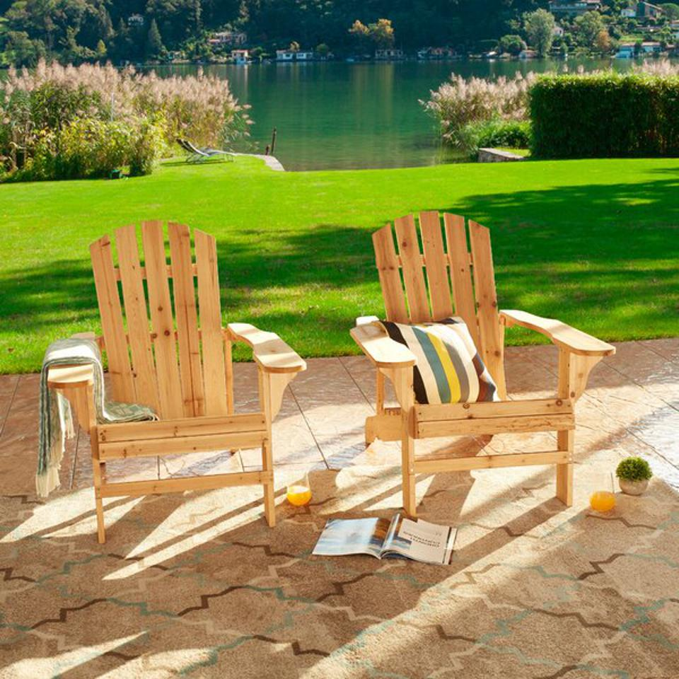 Millwood Pines Steadman Solid Wood Adirondack Chairs (Set of 2)
