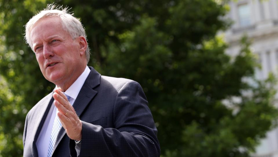 Chief Of Staff Mark Meadows Speaks To Media At The White House