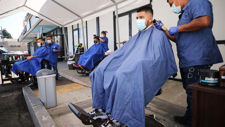 Barbershops Give Outdoor Cuts Amid Coronavirus Pandemic